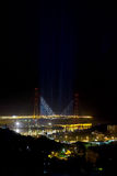 Puente de la noche con la iluminación original Fotografía de archivo
