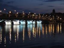 Puente de la noche en Voronezh Fotos de archivo