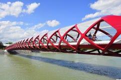 Puente de la paz de Calgary Imagen de archivo libre de regalías
