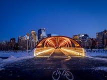 Puente de la paz en Calgary Foto de archivo