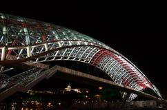 Puente de la paz, Tbilisi Foto de archivo libre de regalías