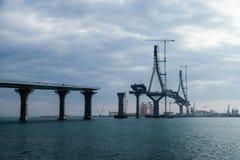 Puente de la Pepa en Cadiz Arkivfoton