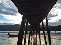 Puente de la pesca Imagen de archivo libre de regalías