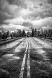 Puente de la pesca en invierno fotos de archivo