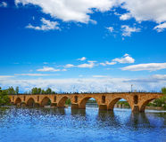 Puente de la piedra de Zamora Puente de Piedra en Duero Imagen de archivo