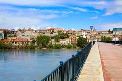 Puente de la piedra de Zamora Puente de Piedra en Duero Imagenes de archivo