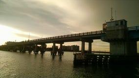 Puente de la playa Imagenes de archivo