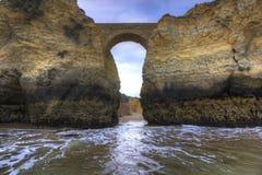 Puente de la playa de Pinhão Fotos de archivo