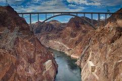 Puente de la Presa Hoover Foto de archivo libre de regalías