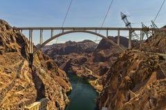 Puente de la Presa Hoover Fotografía de archivo libre de regalías