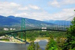 Puente de la puerta de los leones en Vancouver Fotos de archivo