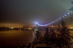 Puente de la puerta de los leones en Vancouver Foto de archivo libre de regalías