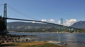 Puente de la puerta de los leones, Vancouver foto de archivo