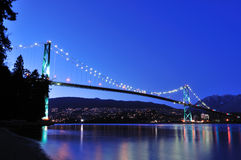 Puente de la puerta de los leones, Vancouver imagenes de archivo