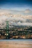 Puente de la puerta de los leones, Vancouver del norte Foto de archivo