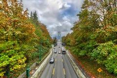 Puente de la puerta de los leones - Vancouver, Canadá foto de archivo
