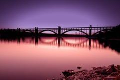 Puente de la puesta del sol Foto de archivo