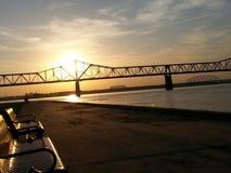 Puente de la puesta del sol Imágenes de archivo libres de regalías