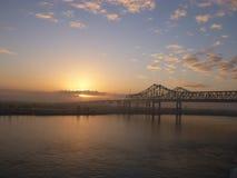Puente de la puesta del sol Fotografía de archivo libre de regalías