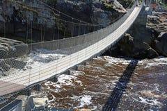Puente de la suspensión Bridge Imagenes de archivo