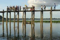 puente de la teca Fotografía de archivo