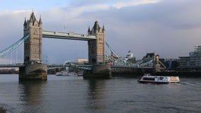 Puente de la torre de Londres almacen de video