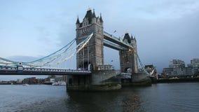 Puente de la torre de Londres almacen de metraje de vídeo