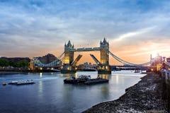 Puente de la torre de Londres, Reino Unido Fotos de archivo libres de regalías