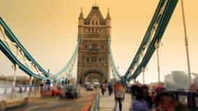 Puente de la torre en Londres almacen de metraje de vídeo