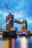 Puente de la torre en Londres, Gran Bretaña Foto de archivo