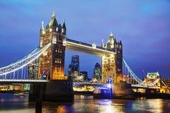 Puente de la torre en Londres, Gran Bretaña Fotos de archivo libres de regalías