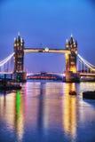 Puente de la torre en Londres, Gran Bretaña Fotos de archivo