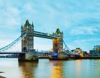 Puente de la torre en Londres, Gran Bretaña Imagen de archivo