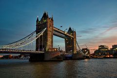 Puente de la torre en Londres, Inglaterra Foto de archivo