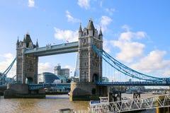 Puente de la torre en Londres, Reino Unido Imagen de archivo
