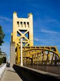 Puente de la torre en Sacramento Foto de archivo