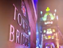Puente de la torre, Londres Foto de archivo libre de regalías