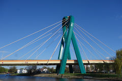 Puente de la universidad en Bydgoszcz Imagenes de archivo