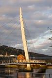 Puente de la vela, Swansea en luz del sol de la tarde Imagenes de archivo