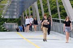 Puente de la voluntad - Brisbane Australia Imágenes de archivo libres de regalías