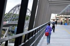 Puente de la voluntad - Brisbane Australia Imagen de archivo libre de regalías