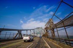 Puente de las Américas a través del Canal de Panamá Imágenes de archivo libres de regalías