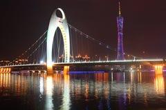 Puente de Liede en la noche Imagen de archivo libre de regalías