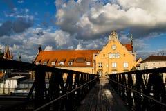Puente de Lindau Foto de archivo libre de regalías