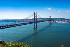 Puente de Lisboa - 25 de abril, Portugal Imágenes de archivo libres de regalías