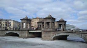 Puente de Lomonosov Foto de archivo libre de regalías