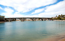 Puente de Londres en la ciudad de Lake Havasu Foto de archivo
