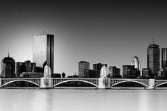 Puente de Longfellow sobre Charles River foto de archivo
