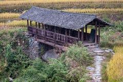 Puente de Longji Foto de archivo libre de regalías
