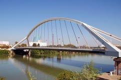 Puente De Los angeles Barqueta w Seville zdjęcie royalty free